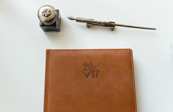 Cuaderno del Año Nuevo Fotografía de archivo