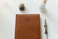 Cuaderno del Año Nuevo Fotos de archivo