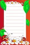 Cuaderno del cabrito con la paginación alineada en blanco Imagen de archivo