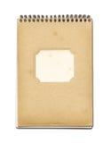 Cuaderno del cierre del espiral del Grunge Imagen de archivo