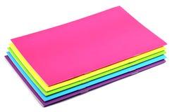 Cuaderno del color Imágenes de archivo libres de regalías
