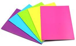 Cuaderno del color Foto de archivo