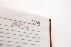 Cuaderno del direccionamiento Imágenes de archivo libres de regalías