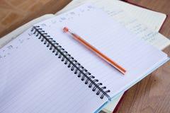 Cuaderno del estudiante Imagen de archivo libre de regalías