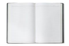 Cuaderno del gris de la cara Fotografía de archivo