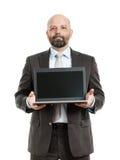 Cuaderno del hombre de negocios Fotos de archivo