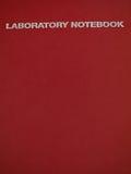 Cuaderno del laboratorio Fotografía de archivo