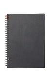 Cuaderno duro negro de la cubierta con Ring Binder. Imagen de archivo libre de regalías