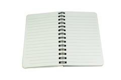Cuaderno en blanco Imagen de archivo