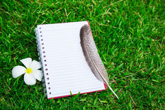 Cuaderno en blanco Imágenes de archivo libres de regalías