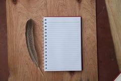 Cuaderno en blanco Imagen de archivo libre de regalías