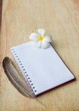 Cuaderno en blanco Foto de archivo libre de regalías