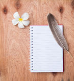Cuaderno en blanco Fotografía de archivo libre de regalías
