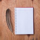 Cuaderno en blanco fotos de archivo