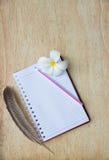 Cuaderno en blanco Fotografía de archivo