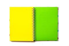 Cuaderno en blanco aislado Fotos de archivo libres de regalías