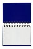 Cuaderno en blanco azul Fotos de archivo libres de regalías