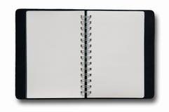 Cuaderno en blanco del aislante Fotografía de archivo