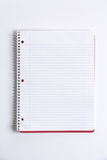 Cuaderno en blanco en el escritorio Imágenes de archivo libres de regalías