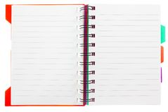 Cuaderno en blanco en un blanco Fotos de archivo libres de regalías