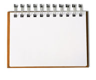 Cuaderno en blanco horizontal Imagen de archivo libre de regalías
