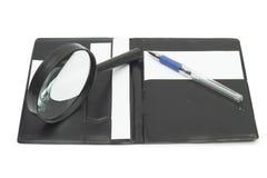 Cuaderno en el fondo blanco Imagenes de archivo