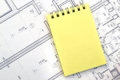 Cuaderno en el fondo de dígitos Imágenes de archivo libres de regalías