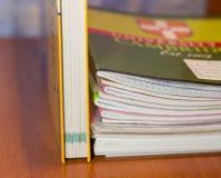 Cuaderno en el vector Foto de archivo