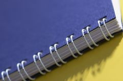 Cuaderno en primer imagen de archivo libre de regalías