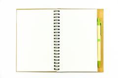 Cuaderno en un fondo blanco imágenes de archivo libres de regalías