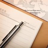 Cuaderno en una correspondencia Fotos de archivo libres de regalías