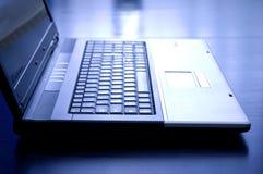 Cuaderno entonado azul Imágenes de archivo libres de regalías
