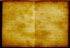 Cuaderno entonado de oro del vinage de Grunge imagen de archivo libre de regalías