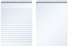 Cuaderno espiral stock de ilustración