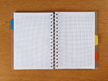 Cuaderno espiral Foto de archivo libre de regalías