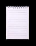 Cuaderno espiral con el papel rayado Imágenes de archivo libres de regalías