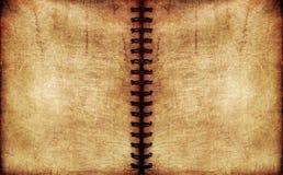 Cuaderno espiral de la vendimia Foto de archivo libre de regalías