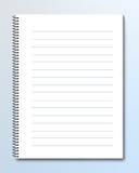 Cuaderno espiral del lazo Fotografía de archivo