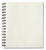 Cuaderno espiral en blanco Fotos de archivo libres de regalías
