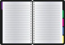 Cuaderno espiral realista en blanco de la libreta Fotos de archivo libres de regalías