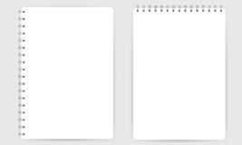 Cuaderno espiral realista en blanco de la libreta aislado en el vector blanco