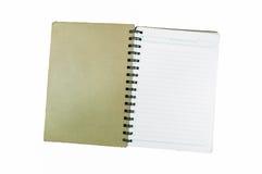 Cuaderno espiral viejo Foto de archivo libre de regalías