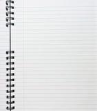 Cuaderno gobernado Fotografía de archivo