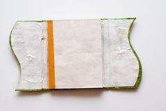 Cuaderno hecho a mano abierto Fotos de archivo