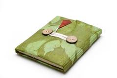 Cuaderno hecho a mano hermoso en el fondo blanco Foto de archivo libre de regalías