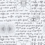 Cuaderno inconsútil del contexto del modelo del vector de la física stock de ilustración