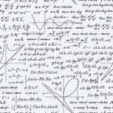 Cuaderno inconsútil del fondo del modelo del vector de la matemáticas ilustración del vector