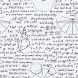 Cuaderno inconsútil del fondo del modelo del vector de la matemáticas libre illustration