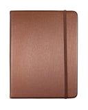 Cuaderno marrón de seda de cubierta del color aislado Imágenes de archivo libres de regalías