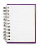 Cuaderno púrpura Fotos de archivo